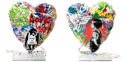Balloon Heart by Mr. Brainwash - Mixed Media Sculpture sized 15x15 inches. Available from Whitewall Galleries
